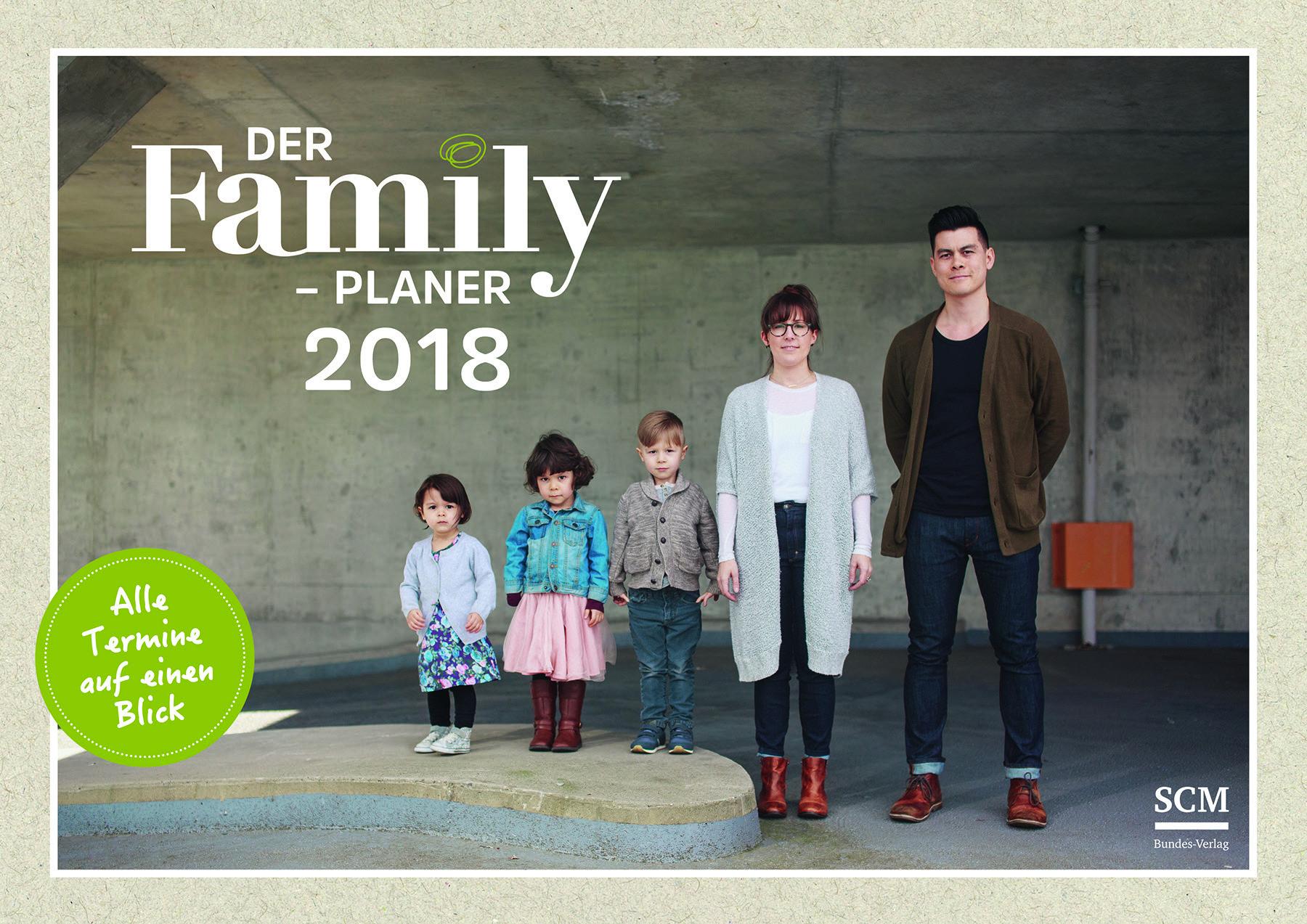 """A3-Wandkalender """"Family"""" mit christlichen Impulsen."""