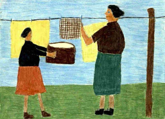 «Mutter hat Waschtag», Pestalozzi-Kalender-Wettbewerb von 1953