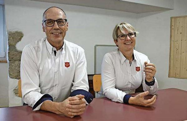 Majore Johannes und Anita Breiter.