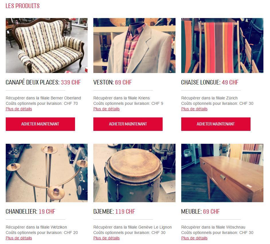 De nombreux articles sont en vente ou en location sur le nouveau webshop.
