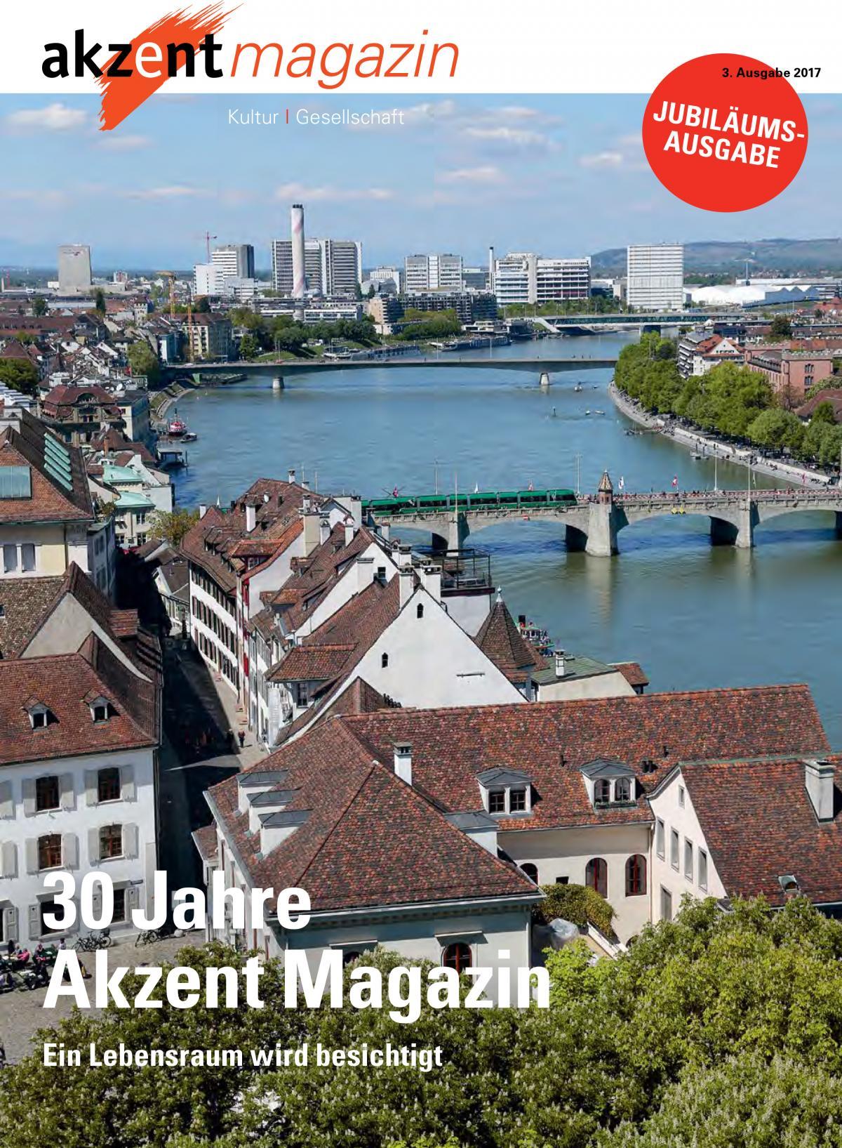 Jubiläums-Ausgabe des Akzent-Magazins mit grossem Bericht über die Heilsarmee.