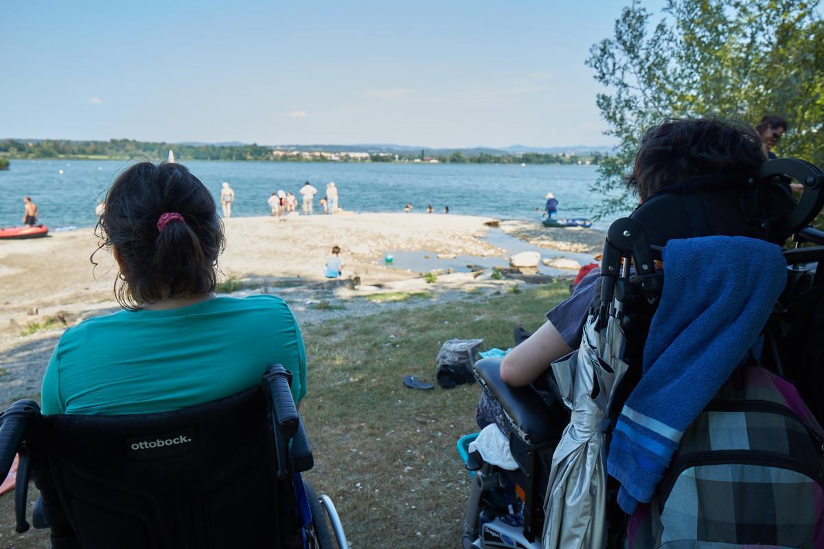 Für diese Menschen mit Behinderung ist das Camp ein Highlight des Jahres.
