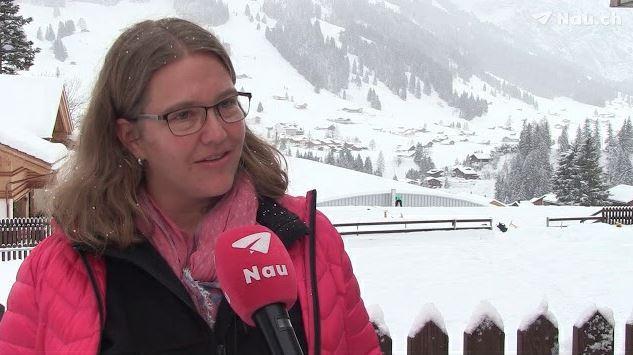 Kapitänin Judith Dummermuth von der Heilsarmee Adelboden.