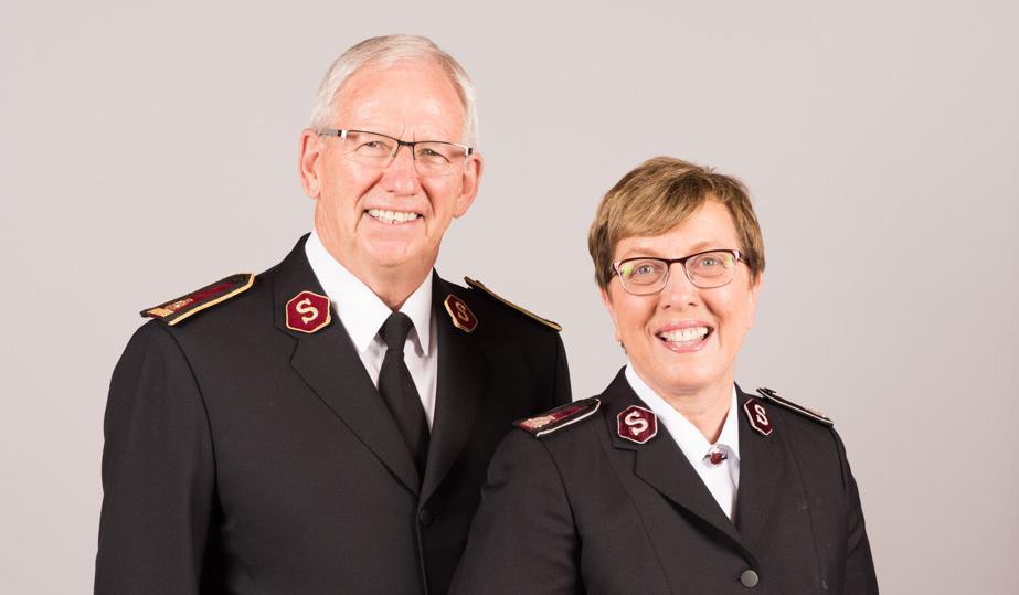 General Brian Peddle und Kommissärin Rosalie Peddle, Weltpräsidentin G+F.