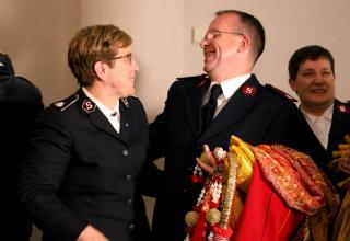 Eindrücke von der Ankündigung des neuen Generals. / Impressions de l'annonce du futur Général.