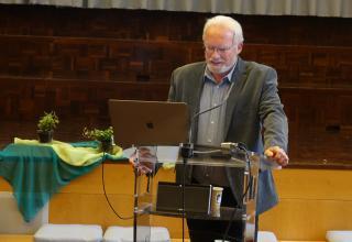 Referent Markus Frauchiger von MEOS sprach über Interkulturelle Kommunikation.