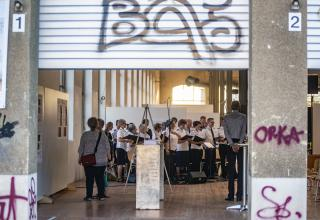 """Vernissage der Heilsarmee-Ausstellung """"Werte leben"""". / Vernissage de l'exposition artistique de l'Armée du Salut «Vivre nos valeurs»"""