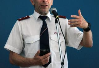Le major Jacques Donzé, Chef de l'Œuvre sociale.