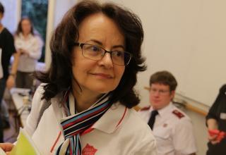 Marianne Lanz, Leiterin Administration/Organisation Sozialwerk. / Marianne Lanz, responsable Administration/Organisation de l'Œuvre sociale