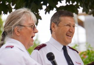 Abschied von Major Hans-Marcel Leber und Willkomm der Majore Wyss in Wien